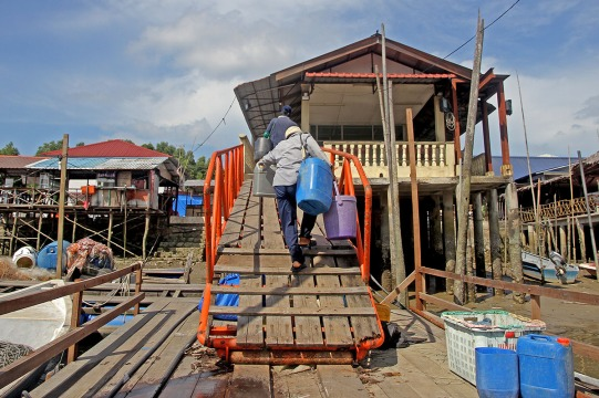There are some who still came back with a small amount of fish caught caused by the activities around the coastal area in Kampung Pendas,Gelang Patah,Johor on March 12,2015.-The Malaysian Insider pic by Seth Akmal